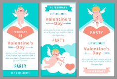 Valentines Day Party. Design templates. Royalty Free Stock Photos