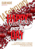 Valentines Day Party Flyer Design. Vector template of invitation, flyer, poster or greeting card Royalty Free Stock Photos