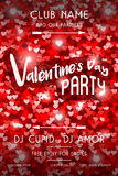 Valentines Day Party Flyer Stock Image
