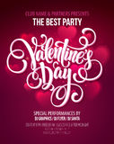 Valentines Day Party Flyer. Vector illustration Stock Image