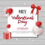 Valentines Day Party Invitation Template Flyer Design Love Holiday Celebration Concept Royalty Free Stock Images