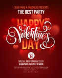 Valentines Day Party Poster Design. Template of Royalty Free Stock Image