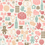Valentines day pattern Stock Photography