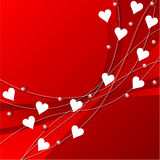 Valentines day pattern. Heart over red background Stock Photo
