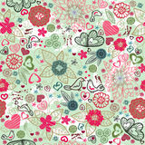 Valentines-day pattern with hearts Royalty Free Stock Photo