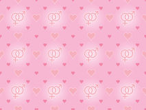 Valentines Day pattern Royalty Free Stock Images