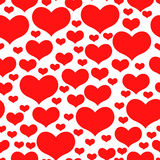 Valentines day pattern seamless of red hearts Royalty Free Stock Photo