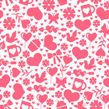 Valentines day pattern seamless with valentines element Royalty Free Stock Images