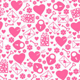 Valentines day pattern seamless Stock Image