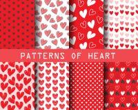 Valentines day pattern Stock Photos