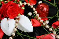 Valentines Day Pearls Royalty Free Stock Image