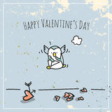 Valentines day penguin Royalty Free Stock Photography