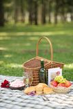 Valentines day picnic Stock Photo
