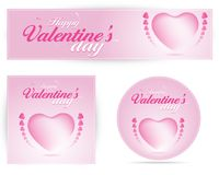 Valentines day pink Banner Royalty Free Stock Photography