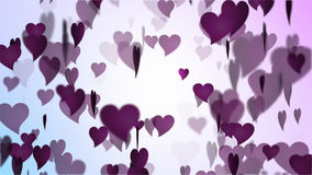 Valentines Day Pink Heart Rain stock footage