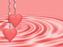 Valentines Day Pink Hearts Royalty Free Stock Image