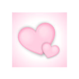 Valentines day pink hearts background. Two pink hearts ideal for Valentines day postcards Royalty Free Stock Photos
