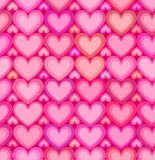 Valentines day pink hearts seamless pattern Stock Image