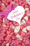 Valentines Day pink and white heart shape jelly candy royalty free stock image