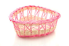 Valentines day - Pink woven basket Royalty Free Stock Photography
