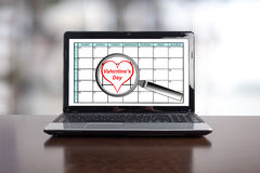 Valentines day on planner Stock Photo