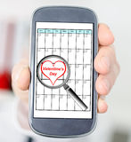 Valentines day on planner Royalty Free Stock Photography