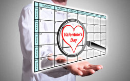Valentines day on planner Stock Photography