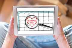 Valentines day on planner Royalty Free Stock Photo