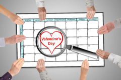 Valentines day on planner Stock Images