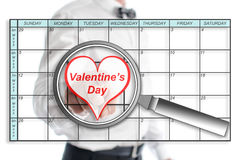 Valentines day on planner Stock Image