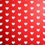 Valentines Day polka dot pattern with paper hearts Royalty Free Stock Photo