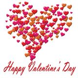 Valentines Day postcard balloons white background.  Stock Images