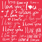 Valentines day postcard Stock Images