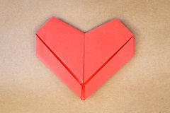Valentines day postcard, paper red heart Royalty Free Stock Photos