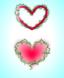 Valentines day postcard. With the red hearts stock illustration