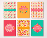Valentines Day Poster, Banner, Menu Template vector illustration