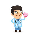 Valentines Day Poster with Doctor Stock Photos
