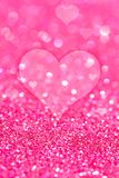 Valentines Day. Purple Valentines Abstract Background with Hearts. Valentines Day Concept Stock Photos