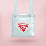 Valentines Day Purse Bag Pink Background Royalty Free Stock Photo