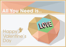Valentines day quote vector illustration royalty free stock images