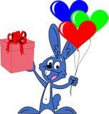 Valentines day rabbit Stock Images