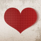 Valentines Day realistic big red Heart Stock Photo