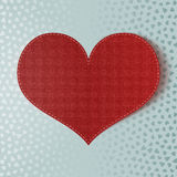 Valentines Day realistic paper red Heart Stock Photo