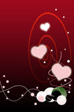 Valentines Day Red Gradient Background with Bubble Stock Image