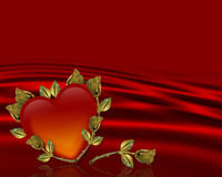 Valentines Day red Heart background Stock Photo