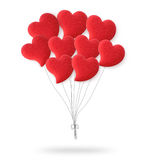Valentines Day Red Heart Balloons. Stock Photos