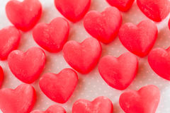 Valentines Day Red Heart Candy Sweets Close Up Stock Photos