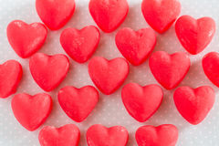 Valentines Day Red Heart Candy Sweets Royalty Free Stock Image