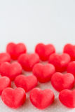 Valentines Day Red Heart Candy Sweets Vertical Stock Photo