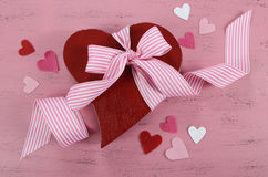 Valentines Day red heart shape gift box Royalty Free Stock Photos